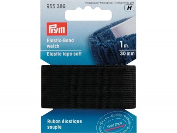 Prym Elastisk strikk – Soft – 30 mm sort