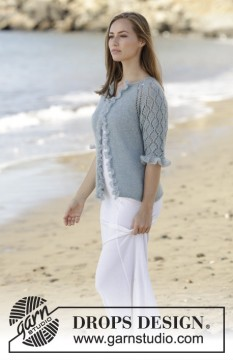 Seaside Dream Cardigan by DROPS Design
