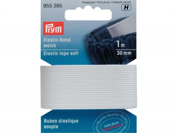 Prym Elastisk strikk – Soft – 30 mm hvit