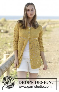 Sahara Cardigan by DROPS Design