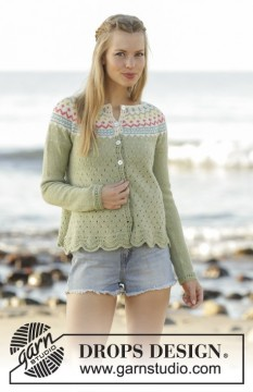 Spring Valley Cardigan by DROPS Design