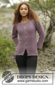 Touch of Heather Cardigan by DROPS Design