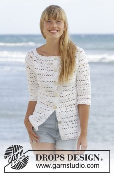 Seashore Bliss Cardigan by DROPS Design