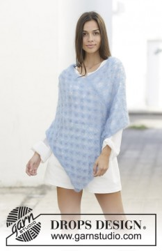 Light Summer Poncho by DROPS Design