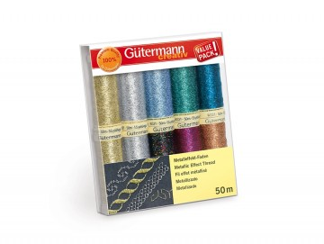 Sett med 10 sneller Gütermann Metallic Effect Thread