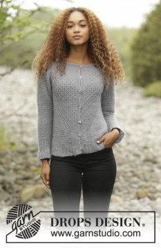 Misty Harbor Cardigan by DROPS Design