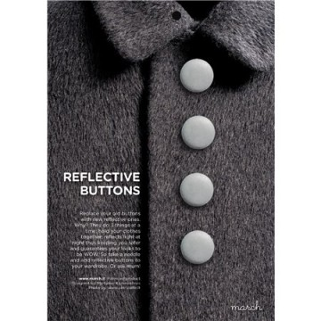 Reflective buttons silver - 22 mm