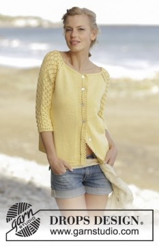 Honey Blossom Cardigan by DROPS Design