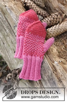 Warmhearted Mittens by DROPS Design