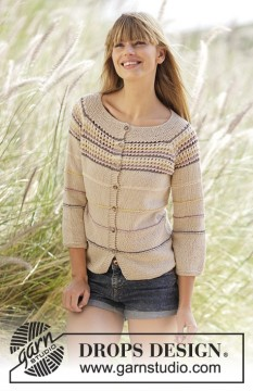 Freja Cardigan by DROPS Design